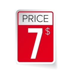 Price Tag sticker - Seven usd vector image
