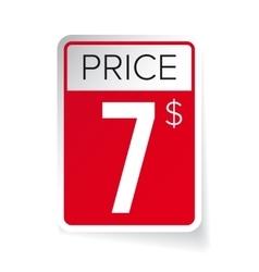 Price tag sticker - seven usd vector