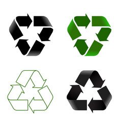 recycle icon set vector image
