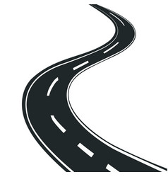 road in perspective design vector image