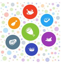 Roast icons vector