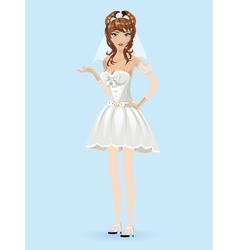 Romantic cartoon bride vector