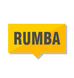 rumba price tag vector image