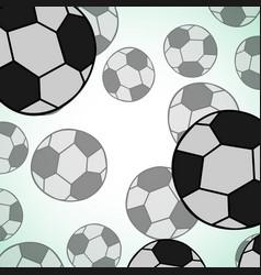 Seamless soccer ball texture vector