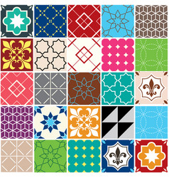 Seamless tile pattern azulejos tiles vector