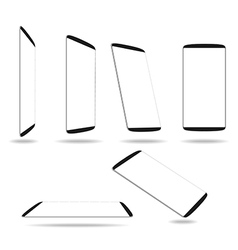 Set new smartphones different angles views vector