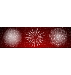 Shiny firework background vector image