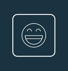 smile icon line symbol premium quality isolated vector image