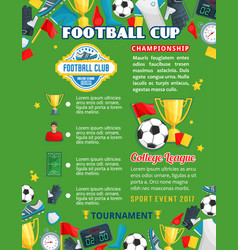 soccer college team football cup poster vector image