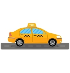 taxi car on white background vector image