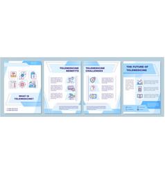 Telemedicine definition brochure template vector
