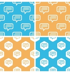 Text message pattern set colored vector image