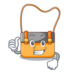 thumbs up bag messenger businessman the leather vector image