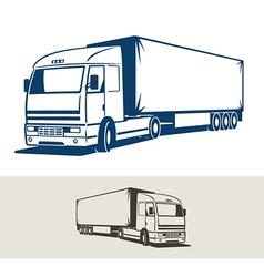 Truck with semitrailer vector