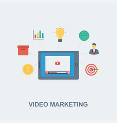 Video marketing concept design vector