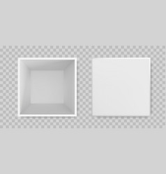 white box open mock up 3d model top view isolated vector image