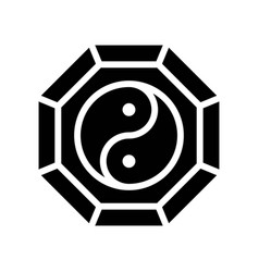 Yin and yang chinese new year related solid vector