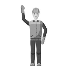 Builder icon gray monochrome style vector