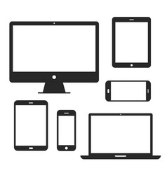 device screen icon set vector image