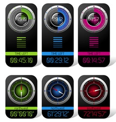 Digital Chronometer and Compass vector image vector image