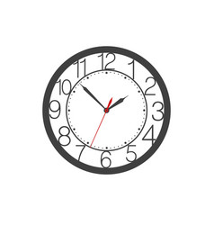 icon of wall clock face with digits clock hands vector image vector image