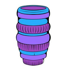 interchangeable lens for camera icon cartoon vector image