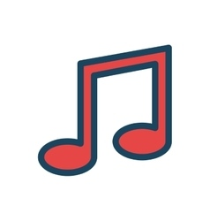 music note icon desing isolated vector image vector image