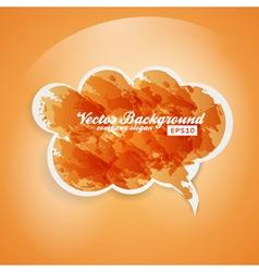 Watercolor Speech Bubble Background vector image vector image