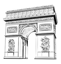 arch of triumph isolated on the white vector image vector image