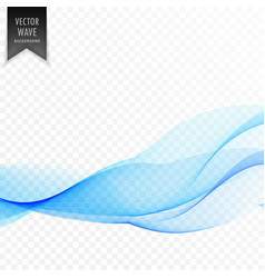 clean smooth blue wave background vector image vector image