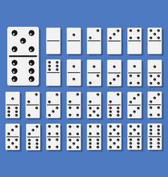 domino bones set vector image