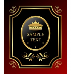 golden royal label vector image vector image