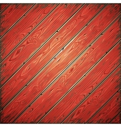 Red Old Wooden Painted Wall vector image vector image