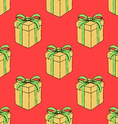 Sketch Christmas present vector image