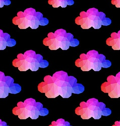 cloud seamless pattern with hipster background vector image vector image