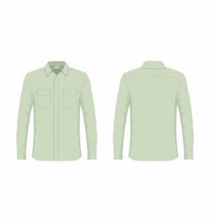 mens green dress shirt vector image