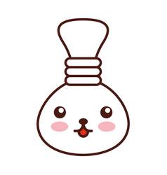 oil jar spa bottle kawaii character vector image
