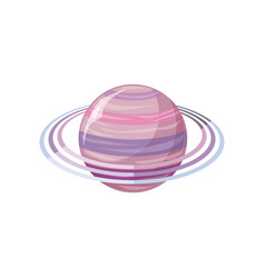 saturn planet sun system universe vector image vector image