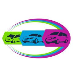 auto rental sign vector image vector image