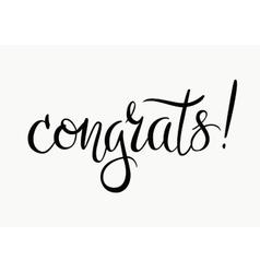 Congrats Congratulations card vector image vector image