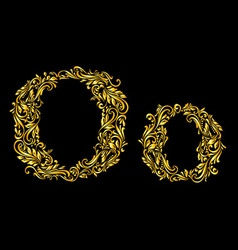 Decorated letter o vector