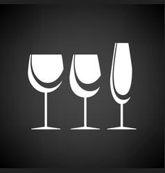 glasses set icon vector image vector image