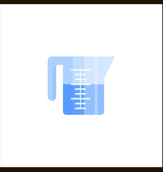 measuring cup flat icon logo isolated on white vector image vector image