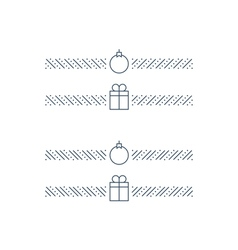 New year minimalistic text separator christmas vector
