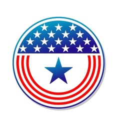 Patriotic American stars and stripes button vector image