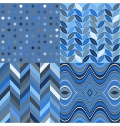 Set of Retro Seamless Abstract Wavy Backgrounds vector image