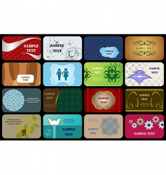 set variety horizontal business cards vector image vector image
