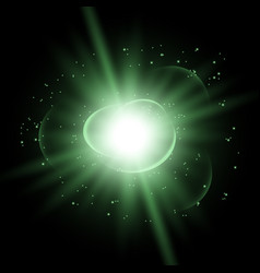 star burst with sparks green color vector image vector image