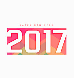 2017 new year text style with colorful backdrop vector image
