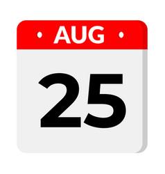 25 august calendar icon vector